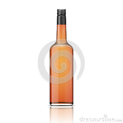 Free Glass Whiskey Bottle With Screw Cap. Stock Photography - 34438532