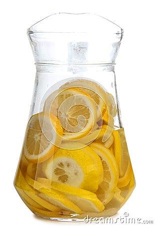 Glass white lemonade