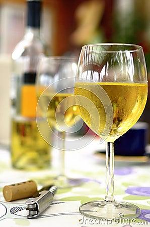 Glass of white vine