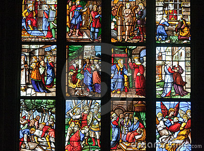 Glass Window Milan Cathedral