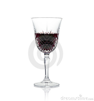 A glass of wine. Stock Photo