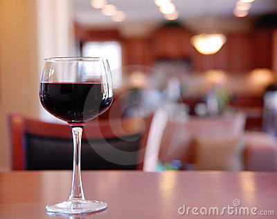 Glass of wine  Bar Table