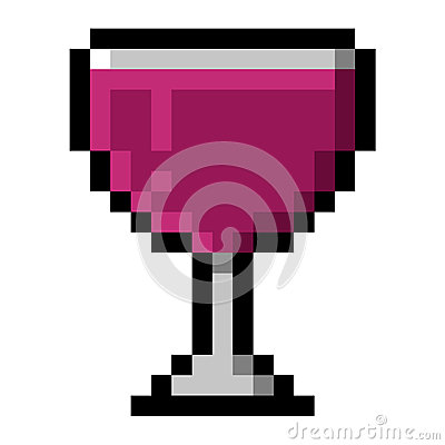 Glass of Wine in Big Pixels