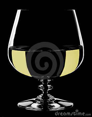 Glass wine goblet, isolated.