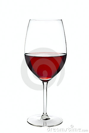 Glass of wine isolated over white