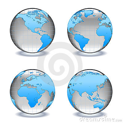 Free Glass Worlds Crystal Globes Royalty Free Stock Image - 15038636