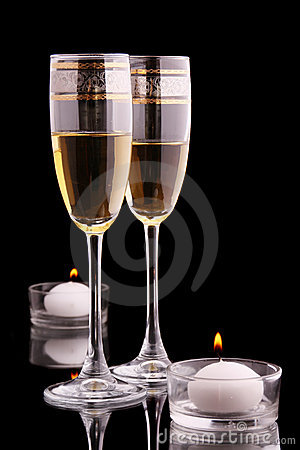 Free Glasses And Candles Stock Photos - 13498693