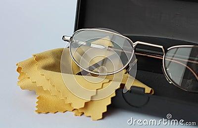 Glasses in black case