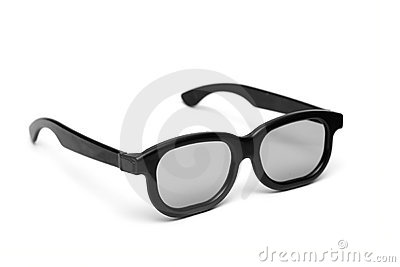 Glasses with a black frame