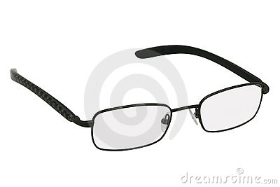 Glasses in black rim.