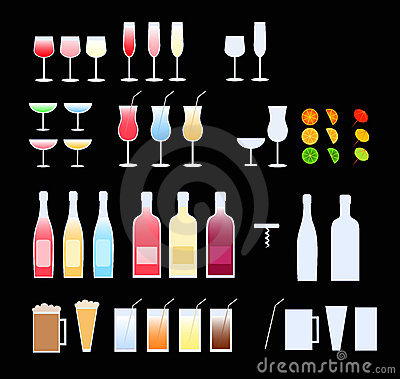 Free Glasses, Bottles Stock Image - 2996231