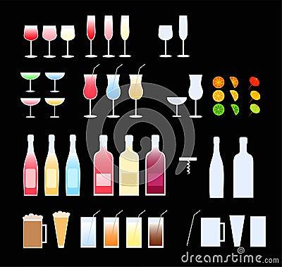 Free Glasses, Bottles Stock Image - 2996231