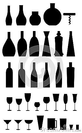 Free Glasses, Bottles, Opener Stock Photos - 2991583