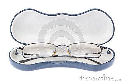 Glasses in the case.