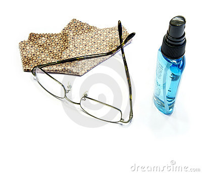 Glasses with cleaner