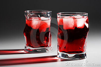 Glasses with a cocktail