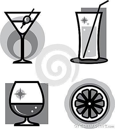 Glasses of cocktails – Vector illustrat
