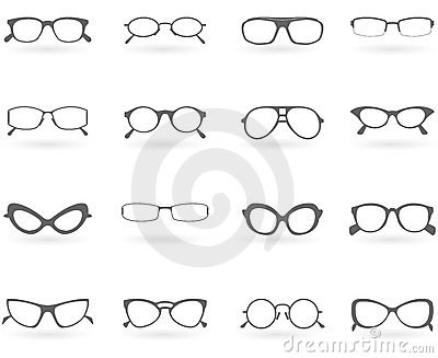Glasses In Different Styles Stock Photo - Image: 17366120