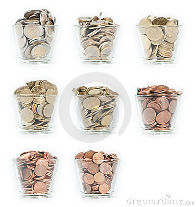 Glasses with Euro-Coins