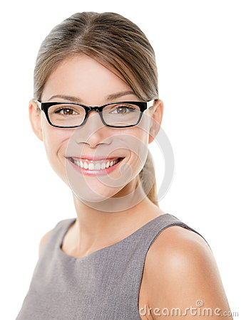 Free Glasses Eyewear Business Woman Happy Portrait Royalty Free Stock Photography - 32562927