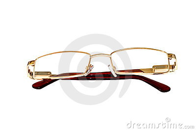 Glasses of gold color for dull sight