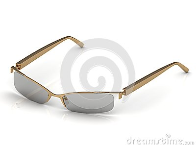 Glasses on gold rimmed