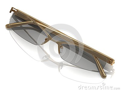 Glasses on gold rimmed
