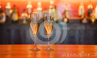 Glasses of liquor