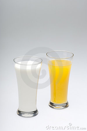 Glasses Of Milk And Orange Juice Royalty Free Stock Images ... | 299 x 450 jpeg 12kB