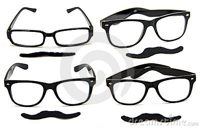 Glasses with Mustaches