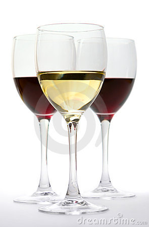 Free Glasses Of Red And White Wine Stock Images - 5316564