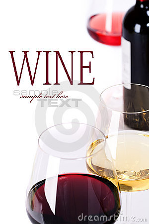 Free Glasses Of White, Red And Rose Wine Royalty Free Stock Image - 20472896