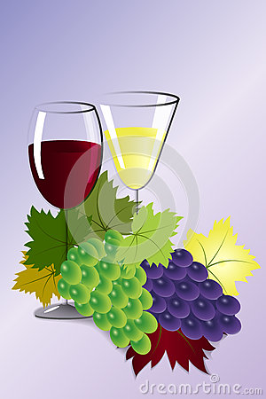 Free Glasses Of Wine And Grapes Stock Images - 78449814