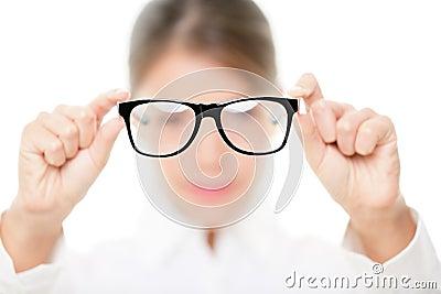 Glasses - optician showing eyewear