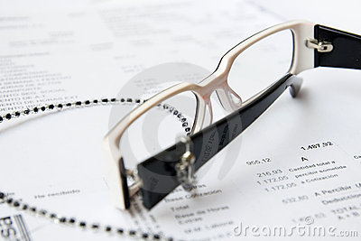 Glasses over text
