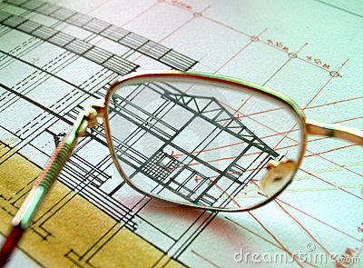 Glasses on section plan