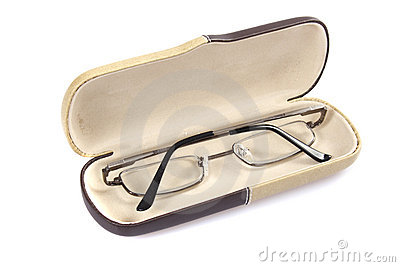 Glasses in spectacle case