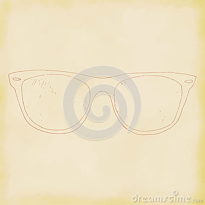 Glasses, spectacles hand drawn. Vector Illustration