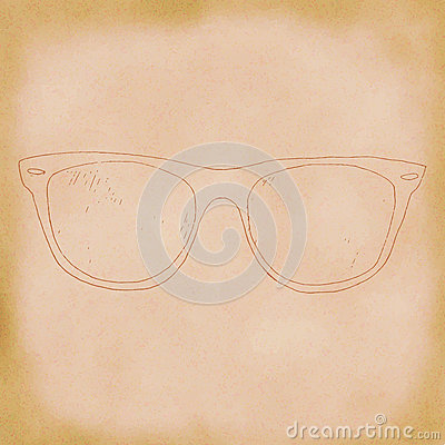 Glasses, spectacles hand drawn. Stock Photo