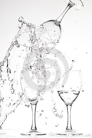 Glasses with water