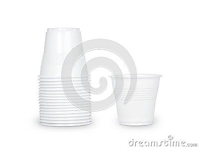 Glasses of white plastic