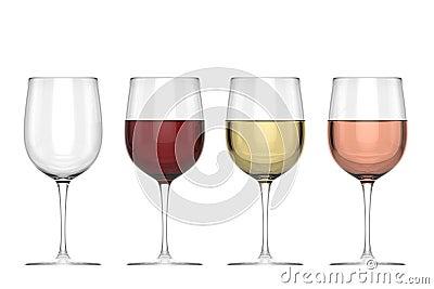Glasses Of Wine - Set