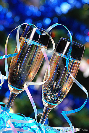 Free Glasses With Champagne Royalty Free Stock Photo - 11320645