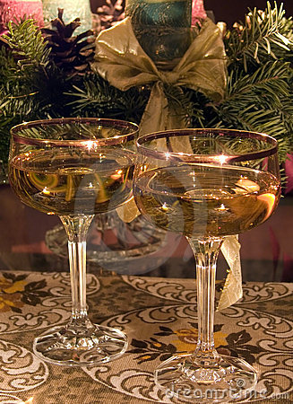 Free Glasses With Champagne Royalty Free Stock Photo - 1669925