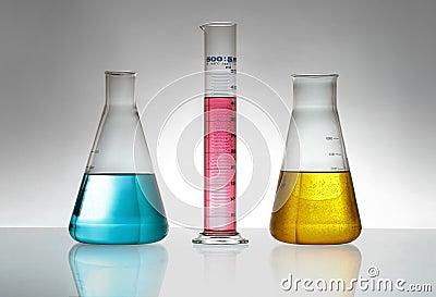 Glassware chemical laboratory