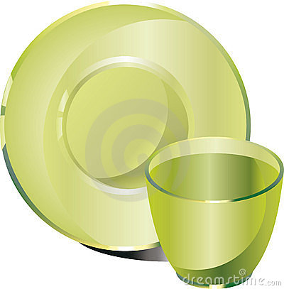Glassware cup saucer