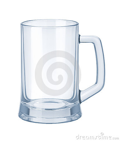 Glassware. Empty Beer Mug