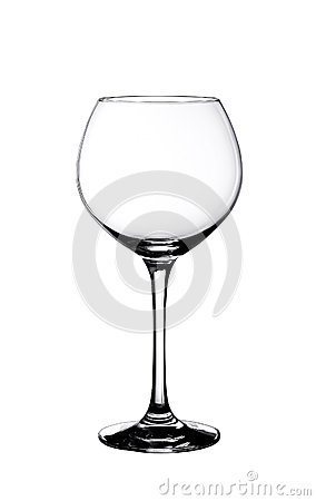 Free Glassy Beautiful Glass For Wine, Is Isolated On A White Royalty Free Stock Images - 91502039