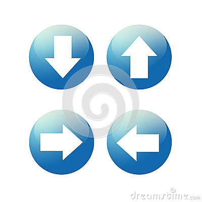Free Glassy Blue Arrow Web Icon Button Stock Photography - 36201462