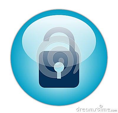 Glassy Blue Unlock Icon